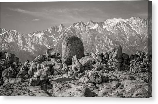 Boulders And Mountains - Sierra Nevada Canvas Print by Joseph Smith