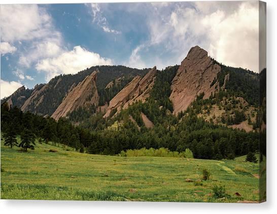 Boulder's Flatirons Canvas Print