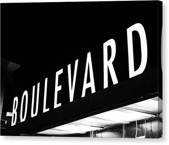 Boulevard Lights Up The Night Canvas Print