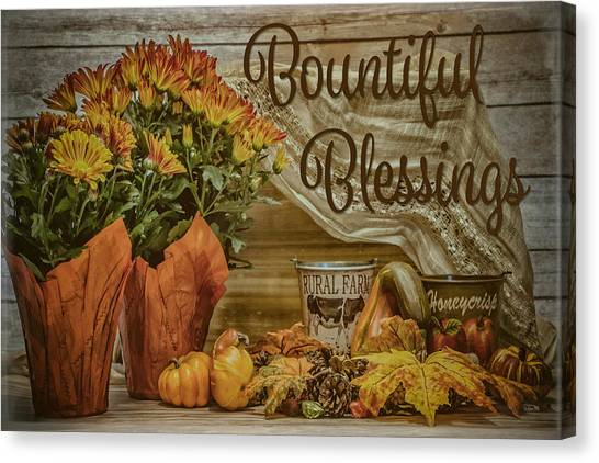 Bountiful Blessings Canvas Print