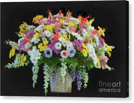 Easter Baskets Canvas Print - Bountiful Bouquet by Bonnie Barry