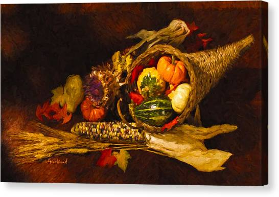 Indian Corn Canvas Print - Bountiful Season by Garland Johnson