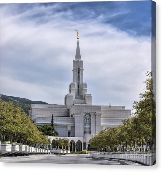 Bountiful Temple In Summer Canvas Print