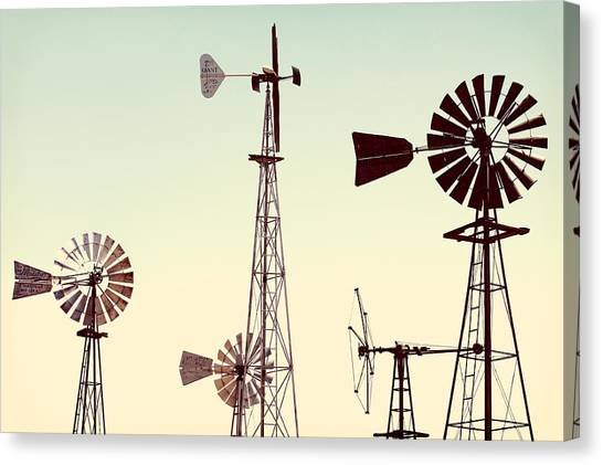 Wind Farms Canvas Print - Bountiful Windmills by Todd Klassy