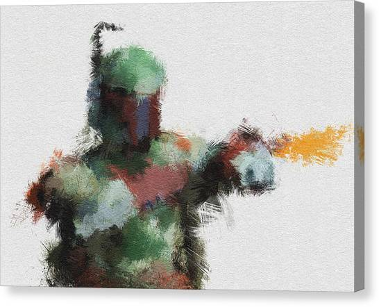 Boba Fett Canvas Print - Bounty Hunter by Miranda Sether