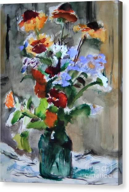 Bouquet Canvas Print by Andrey Semionov