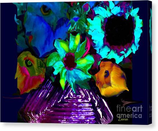 Bouquet In Fauve Canvas Print