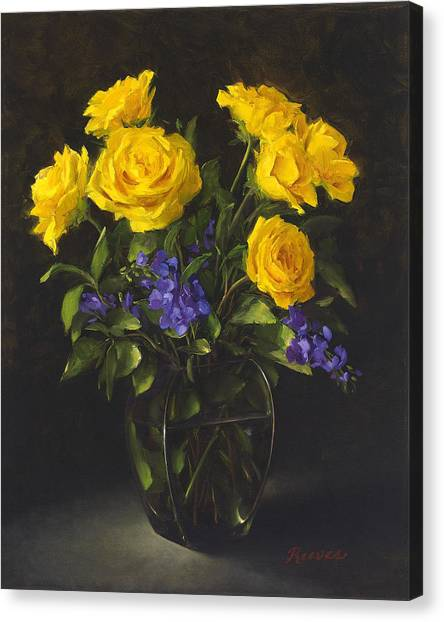 Bouquet Of Sunshine Canvas Print