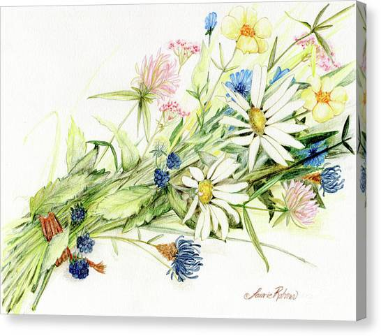 Bouquet Of Wildflowers Canvas Print
