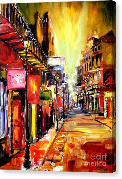 Bourbon Canvas Print - Bourbon Street Dazzle by Diane Millsap