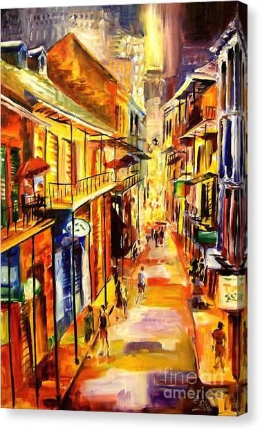 Bourbon Street Canvas Print - Bourbon Street Glitter by Diane Millsap