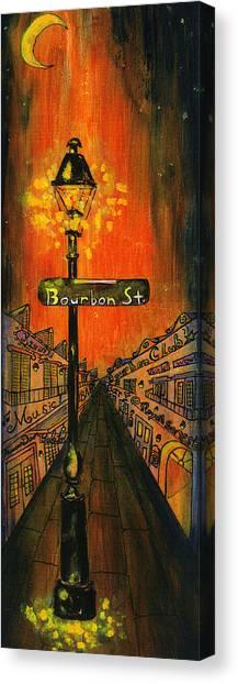 Bourbon Canvas Print - Bourbon Street Lamp Post by Catherine Wilson
