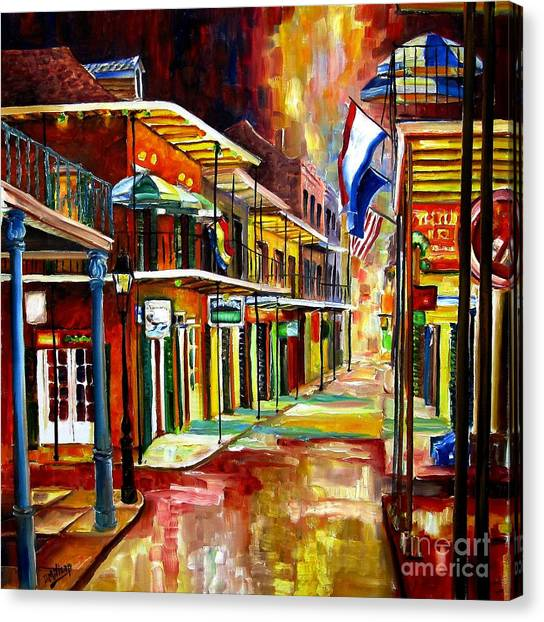 Bourbon Street Canvas Print - Bourbon Street Lights by Diane Millsap