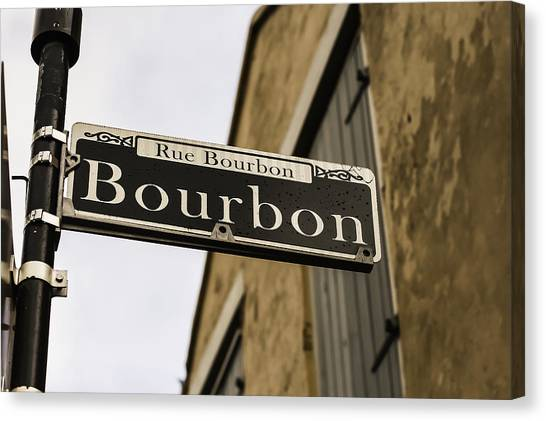 Bachelorette Canvas Print - Bourbon Street, New Orleans, Louisiana by Chris Coffee