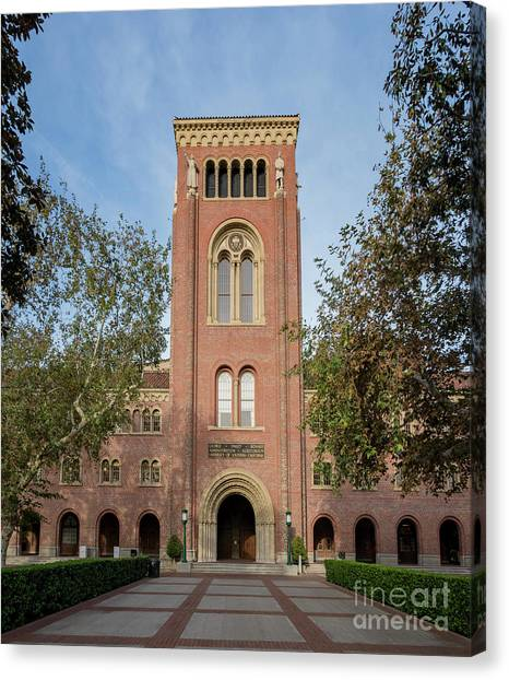 University Of Southern California Usc Canvas Print - Bovard Aministration Of The University Of Southern California by Chon Kit Leong