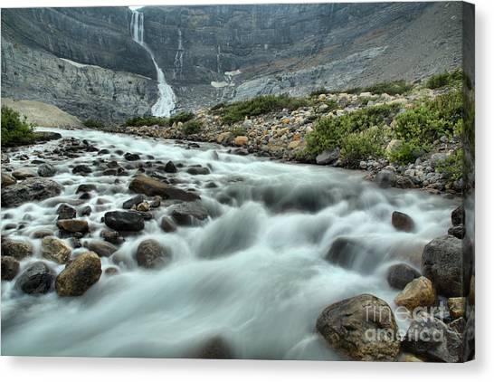 Canada Glacier Canvas Print - Bow Glacier Falls Creek by Adam Jewell