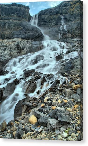 Canada Glacier Canvas Print - Bow Glacier Falls Portrait by Adam Jewell