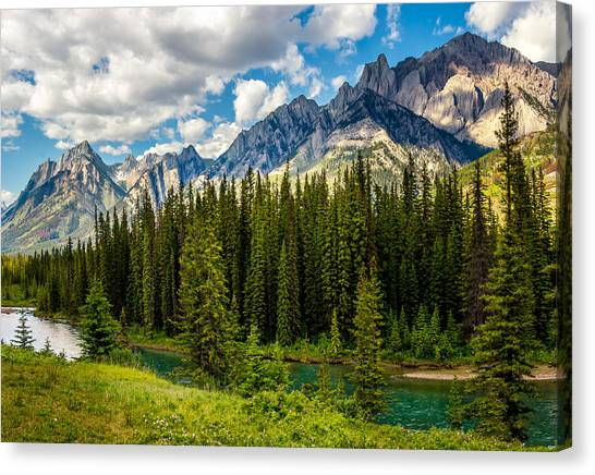 Canvas Print featuring the photograph Bow River by Claudia Abbott