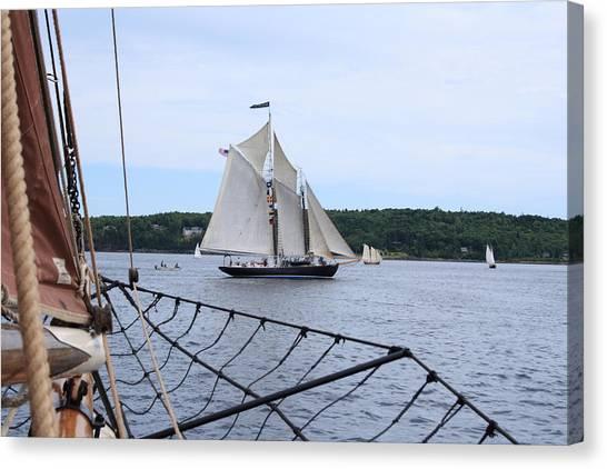 Bowditch Under Full Sail Canvas Print