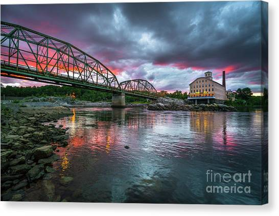 Bowdoin Mill Sunset Canvas Print