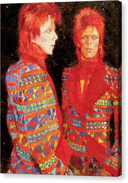 David Bowie Canvas Print - Bowie by Edward Thomas