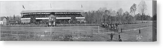 Maryland Horses Canvas Print - Bowie Race Track Bowie Md Opening Day by Fred Schutz Collection