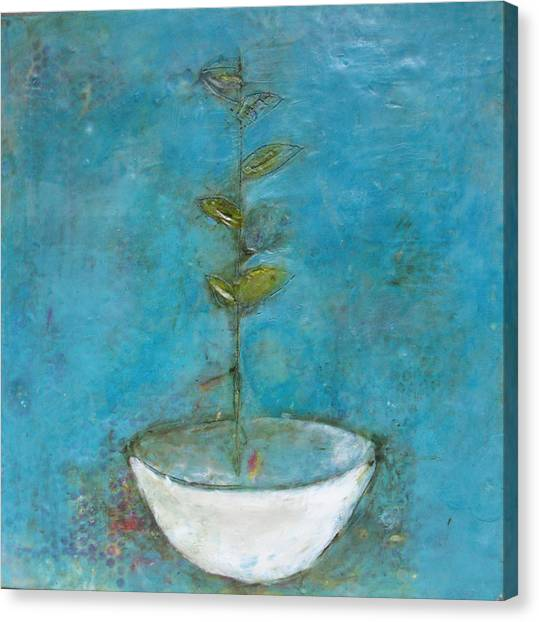 Bowl 8 Canvas Print by Lynn Bregman-Blass
