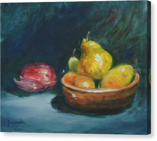 Bowl Of Fruit By Alan Zawacki Canvas Print