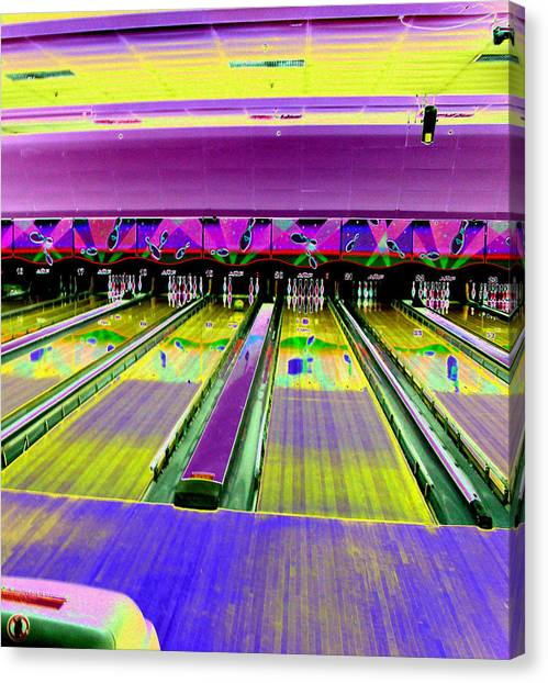 Bowling Alley Canvas Print by Peter  McIntosh