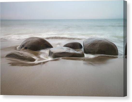 Bowling Ball Canvas Print - Bowling Ball Beach by Francesco Emanuele Carucci