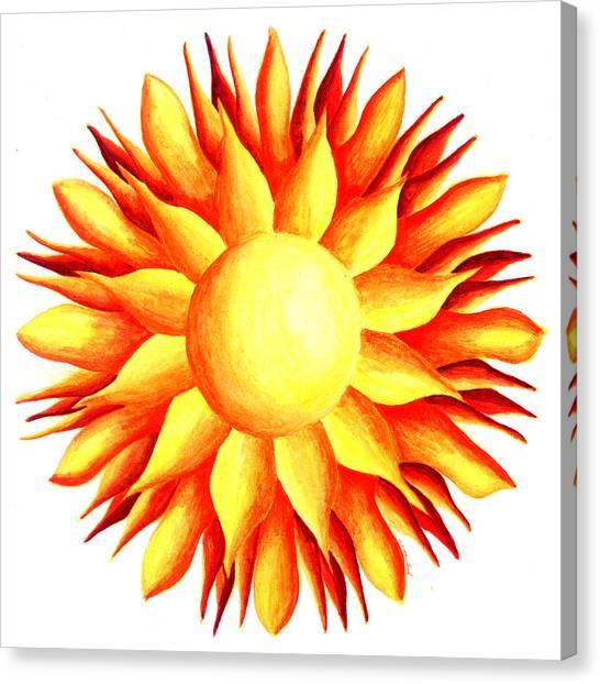 Bowling For Sunshine Canvas Print by Maureen Frank The Mandala Lady