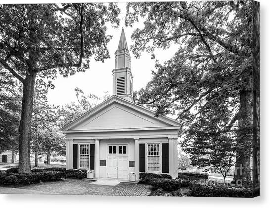 Bowling Canvas Print - Bowling Green State University Prout Chapel by University Icons