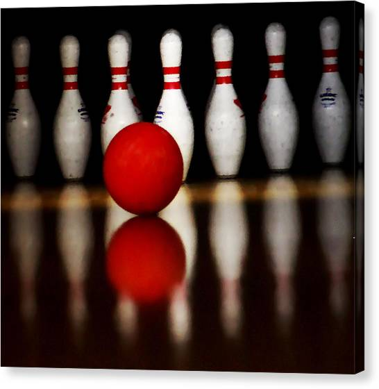 Bowling Reflections Canvas Print