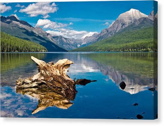 Bowman Lake 1, Glacier Nat'l Park Canvas Print