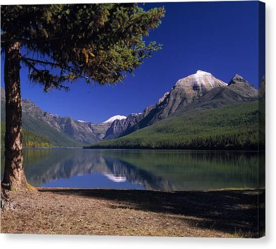 Glacier National Park Canvas Print - Bowman Lake by Leland D Howard