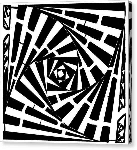 Box In A Box Maze Canvas Print by Yonatan Frimer Maze Artist