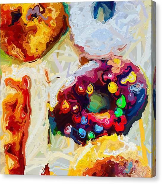 Canvas Print - Box Of Donuts by Modern Art