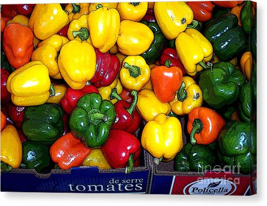 Box Of Peppers Canvas Print
