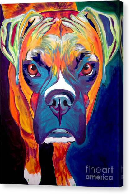 Boxer Dog Canvas Print - Boxer - Harley by Alicia VanNoy Call
