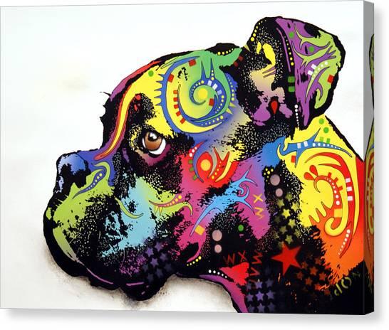 Boxers Canvas Print - Boxer by Dean Russo Art