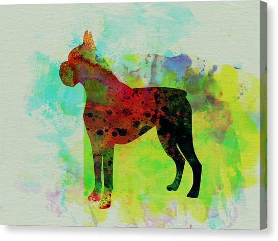 Boxers Canvas Print - Boxer Watercolor by Naxart Studio