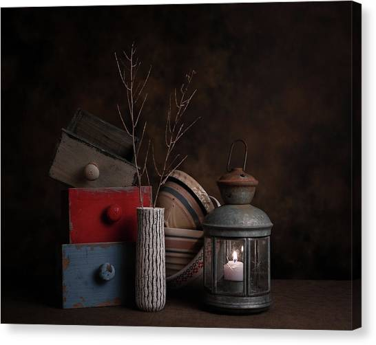 Wooden Bowls Canvas Print - Boxes And Bowls by Tom Mc Nemar