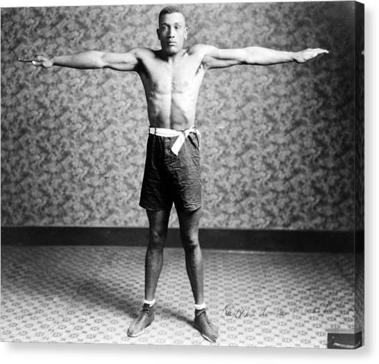 Boxing. Boxer Tut Jackson, Ca. 1922 Canvas Print by Everett