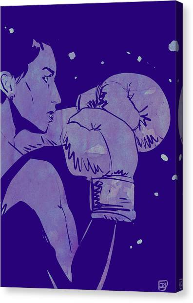 Fighting Canvas Print - Boxing Club 2 by Giuseppe Cristiano