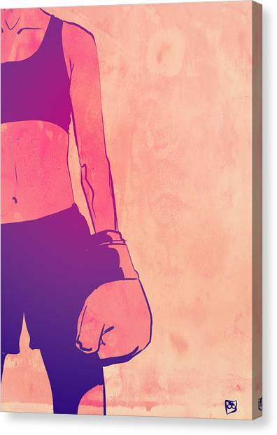 Fighting Canvas Print - Boxing Club 3 by Giuseppe Cristiano
