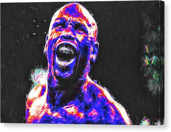 Strikeout Canvas Print - Boxing Floyd Money Mayweather Painted by David Haskett