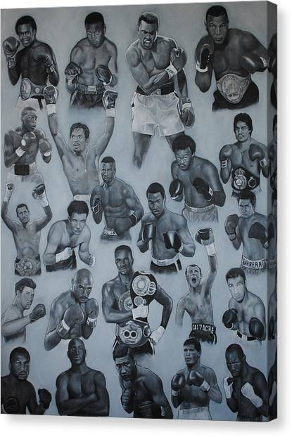 Manny Pacquiao Canvas Print - Boxing's Greatest by David Dunne