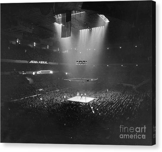 Boxing Canvas Print - Boxing Match, 1941 by Granger