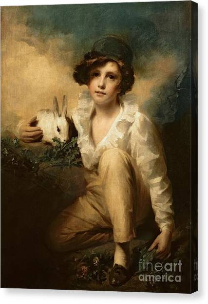 Lettuce Canvas Print - Boy And Rabbit by Sir Henry Raeburn