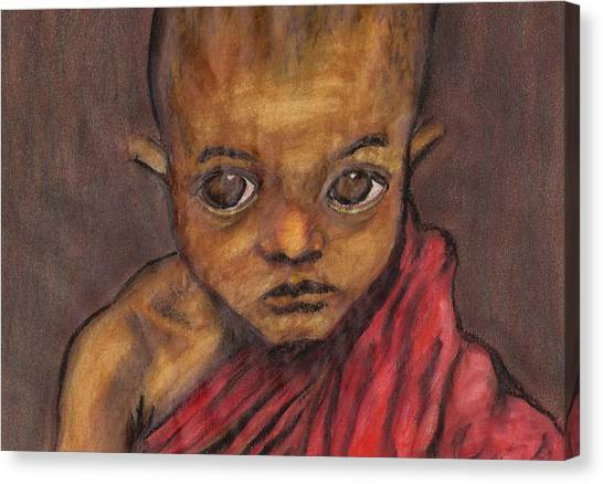 Boy In Burma Canvas Print by Jean Haynes